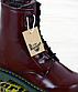 Женские зимние ботинки Dr. Martens (бордовый) стильная молодежная обувь К11945, фото 10