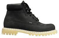 Ботинки STEEL 052OCW-BLK 6 дыр. чёрные нубук (кожа, зима, черевики, зима)