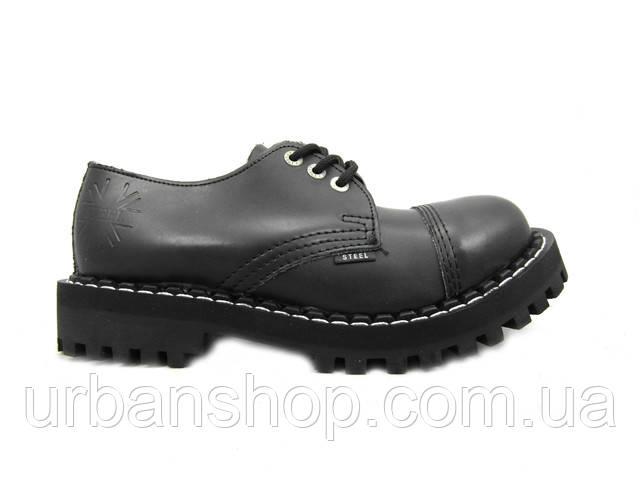 Туфлі Steel 101/102/0 3 дир. чорні, Black Original. Туфлі. Черевики. Шкіра. шкіра. Черевики.
