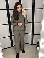 Шерстяной женский костюм тройка