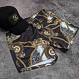 Чоловічі пляжні шорти Versace CK1956 чорні, фото 4