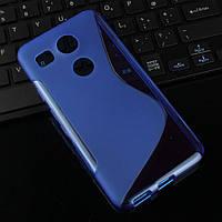 Силиконовый чехол Duotone для LG Google Nexus 5X синий