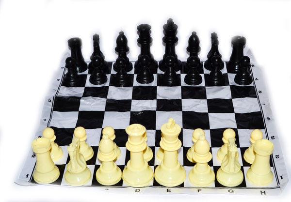 Фигуры шахматные пластиковые, большие