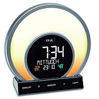 Будильник-светильник TFA 60202601 SOLUNA меняет цвета термогигрометр функция зарядки