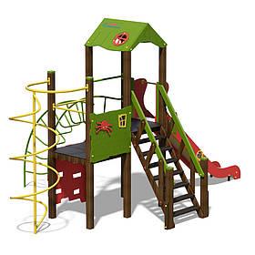 """Игровой комплекс зелено-красный """"Башня-NEW"""""""