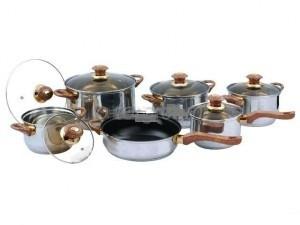 Набор кастрюль Frico FRU-733, 12 предметов 2,1 / 2,1 / 2,9 / 3,9 / 6,5 / + сковорода 3,3 л.