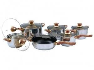 Набор кастрюль Frico FRU-733, 12 предметов 2,1 / 2,1 / 2,9 / 3,9 / 6,5 / + сковорода 3,3 л., фото 2