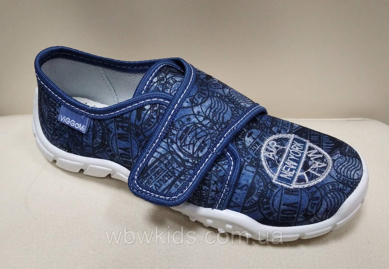 Тапочки Viggami Julek haft jeans сині