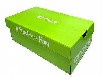 Коробка Crocs зеленая