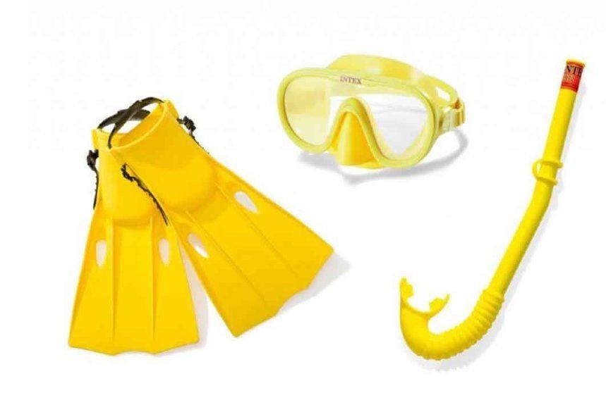 Набор для подводного плавания маска с трубкой от 8 лет детская Intex арт. 55655