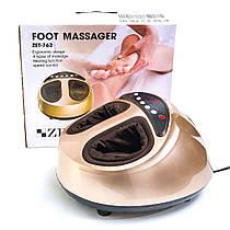 Массажер для ног и ступней Zenet ZET-762 роликовый, компрессионный с прогревом