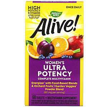 "Мультивітаміни для жінок nature's Way ""Alive! Once Daily women's Ultra Potency"" (60 таблеток)"