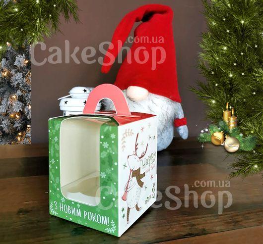 Коробка для 1 кекса с ручкой  Музыканты, 8,2х8,2х10см