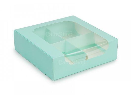 Коробка для десертов с окошком 20х20х6, Тиффани