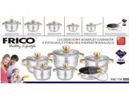 Набор кастрюль Frico FRU-735, 12 предметов 2,1 / 2,1 / 2,9 / 3,9 / 6,5 / + сковорода 3,3 л.
