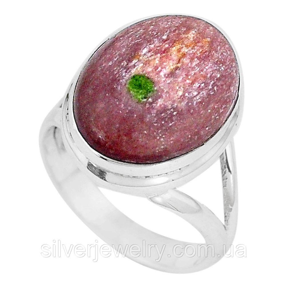 Серебряное кольцо с МУСКОВИТОМ (натуральный), серебро 925 пр. Размер 18