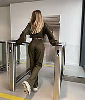 Женский костюм из плотной замши рр 40-42 и 44-46