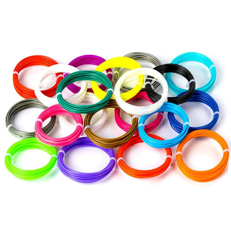 Набор ПЛА 15 цветов по 10м. PLA пластика 150м для 3D ручки