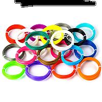 Набор ПЛА 15 цветов по 10м. PLA пластика 150м для 3D ручки, фото 1