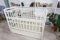 Детская кровать-трансформер с ящиком от 0 до 5 лет Карина Кузя слоновая кость