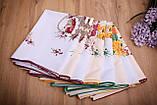 Скатертина Великодня 110-150 «Пташки» Жовтий візерунок Біла, фото 4