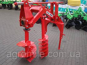 Бур навісний до трактора Wirax - 2 шнека (50 см, 25 см) (Польща)