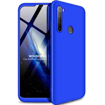 Пластикова накладка GKK LikGus 360 градусів (opp) для Xiaomi Redmi Note 8 Синій