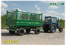 Прицеп самосвальный тракторный 2ПТС-6 -1 (6 т) с надставными сетчатыми Бобруйскагромаш (Белоруссия )