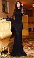 Платье гипюр  русалка 20/7063