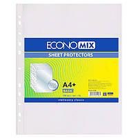 Прозрачные файлы А4+ EconoMix глянцевые 30 мкм 100шт Е31106