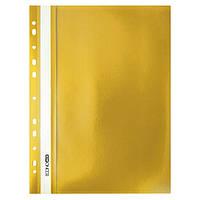 Скоросшиватель с прозрачным верхом А4 Economix с перфорацией желты E31510-05