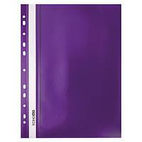 Скоросшиватель с прозрачным верхом А4 Economix с перфорацией фиолетовы E31510-12