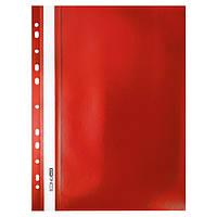 Скоросшиватель с прозрачным верхом А4 Economix с перфорацией красны Е31510-03