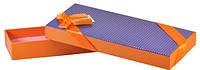 Коробка 4478 оранжевая 23х9,5х3,5см