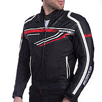 Мотокуртка текстильная с защитой SCOYCO JK37 (PL, PVC, M-XL, черный-красный), фото 1