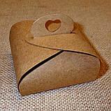 Стеклянный подсвечник с прозрачной воскововой чайной свечой 24г в коробке Бежевый Крафт, фото 2