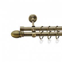 """Карнизи металеві D16мм колір """"Античне золото"""" (в комплекті)"""
