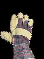 Перчатки спилковые (комбинированные)