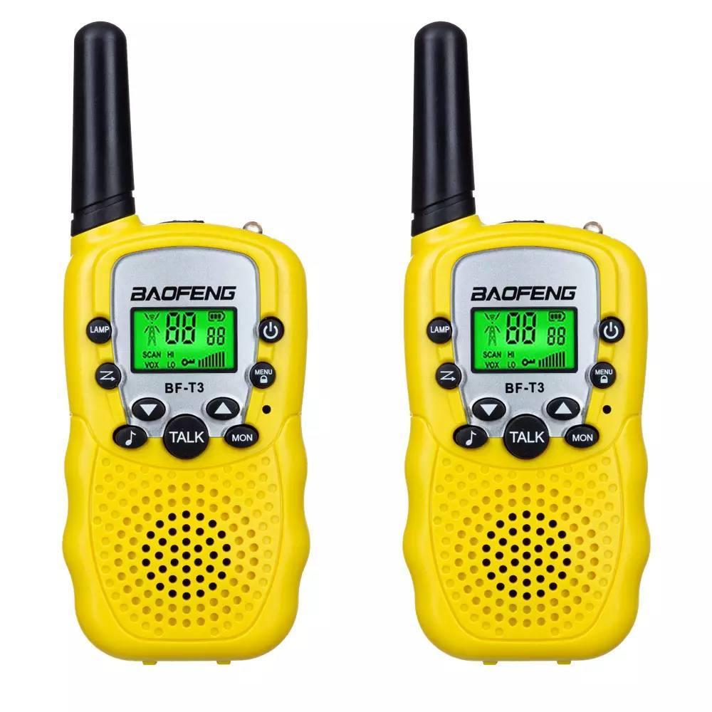 Комплект раций Baofeng BF-T3 UHF  2 штуки Yellow