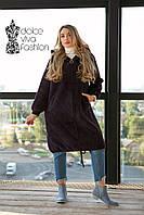 Женское пальто-кардиган из шерсти Альпака  р.48-56, фото 1