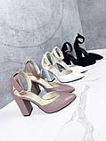 Туфли женские белые на каблуке натуральная кожа, фото 6