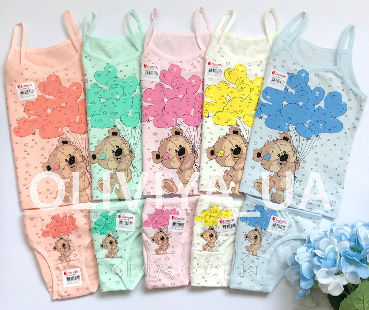 ОПТОМ Детские комплекты белья (в упаковке 5 комплектов одного размера)