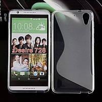 Силиконовый чехол Duotone для HTC Desire 728G Dual Sim белый