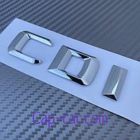 Логотип для Мерседес. CDI. Хром, Об'ємна. 3D., фото 1