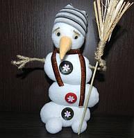 Креативный снеговик, новогодний декор, ручная работа