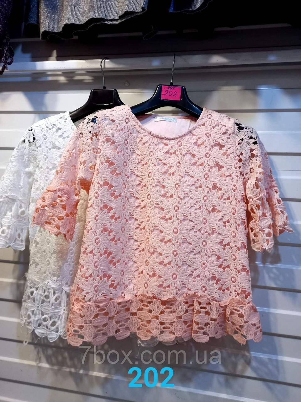 Женская блуза кружево белая 42-46