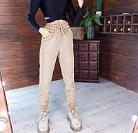 Вельветовые женские штаны-джоггеры. Размер: 42-44, 44-46, 46-48. Цвет: пудра, чёрный, бежевый