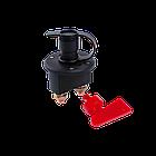Вимикач маси універсальний, механічний 12/24В (червона мідь) 80A, фото 3