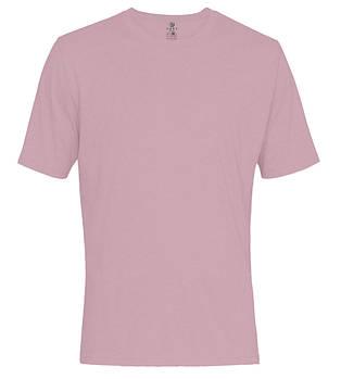 Футболка однотонная мужская, цвет розовый, круглая горловина