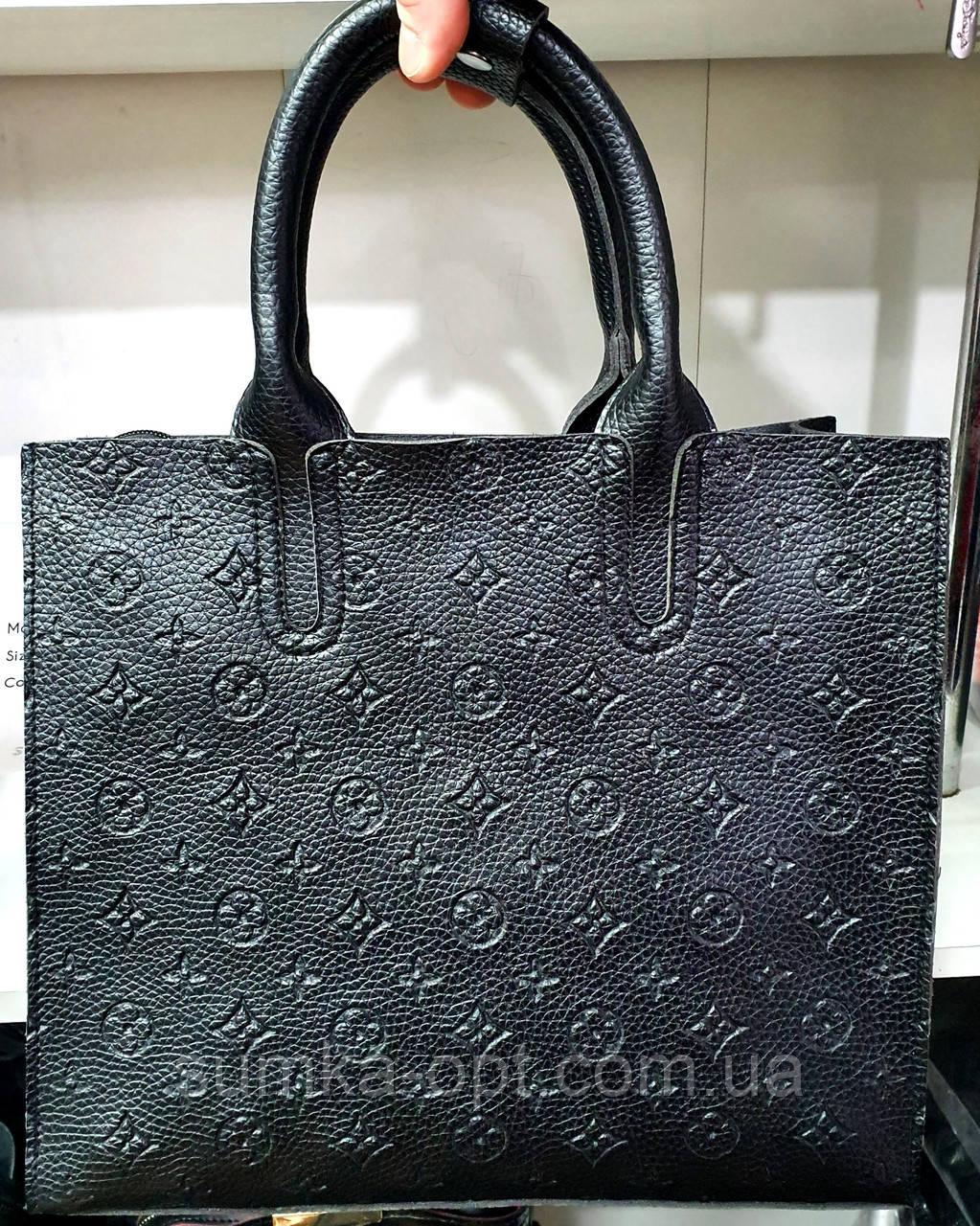 Брендовая женская сумка LV 32*28 см, черная